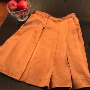 Club Monaco Brand Rust Satin Skirt Size 4